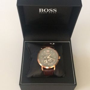 Men's Hugo Boss Automatic Watch Rose Gold Brown
